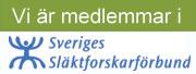 Vi är medlemmar i Sveriges Släktforskarförbund